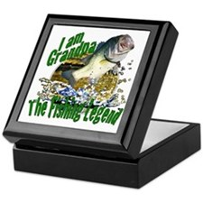Grandpa the Bass fishing legend Keepsake Box