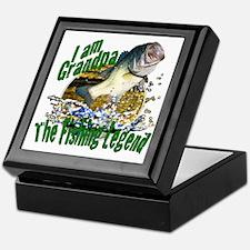 Grandpa the Bass fishing legend Keepsake Box