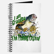 Grandpa the Bass fishing legend Journal