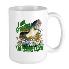 Grandpa the Bass fishing legend Large Mug