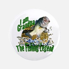 "Grandpa the Bass fishing legend 3.5"" Button (100 p"