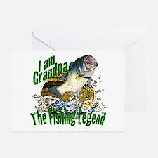 Grandpa the Bass fishing legend Greeting Card