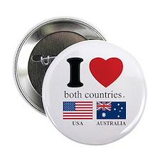 """USA-AUSTRALIA 2.25"""" Button"""