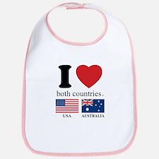 USA-AUSTRALIA Bib