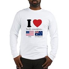 USA-AUSTRALIA Long Sleeve T-Shirt