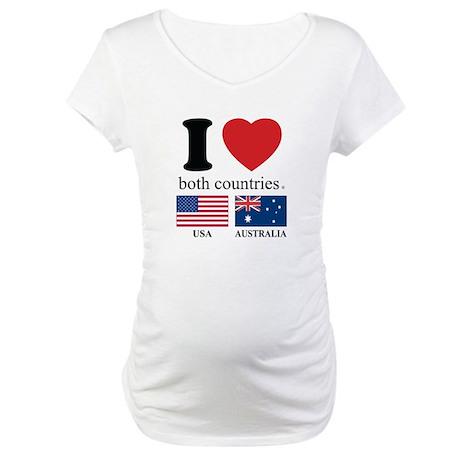 USA-AUSTRALIA Maternity T-Shirt