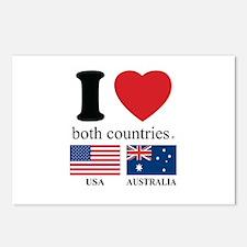 USA-AUSTRALIA Postcards (Package of 8)