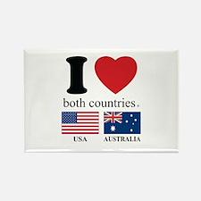 USA-AUSTRALIA Rectangle Magnet
