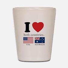 USA-AUSTRALIA Shot Glass