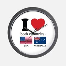 USA-AUSTRALIA Wall Clock