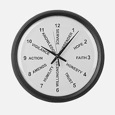 12 Principles Clock #1 Large Wall