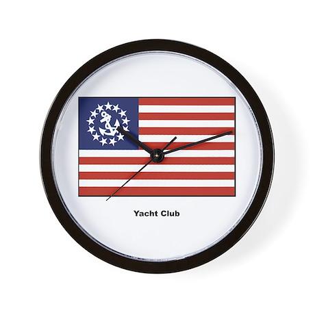 Yacht Club Flag Wall Clock