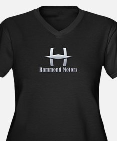 Hammond Motors Women's Plus Size V-Neck Dark T-Shi