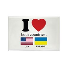 USA-UKRAINE Rectangle Magnet