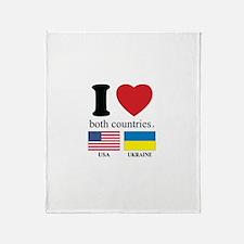 USA-UKRAINE Throw Blanket