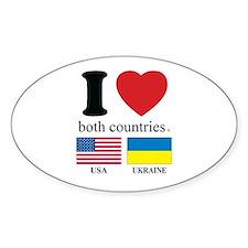 USA-UKRAINE Decal