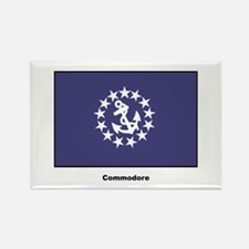 Commodore Flag Rectangle Magnet