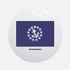Commodore Flag Ornament (Round)