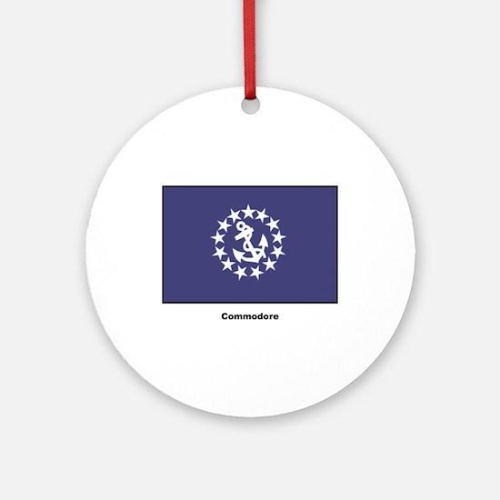 Commodore Flag Ornament (Round)