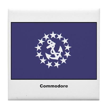 Commodore Flag Tile Coaster