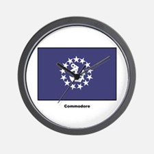 Commodore Flag Wall Clock