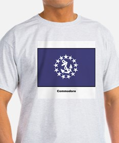 Commodore Flag (Front) Ash Grey T-Shirt