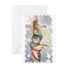 Star Mermaid Greeting Card