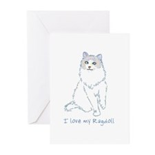 I Love My Ragdoll Greeting Cards (Pk of 10)