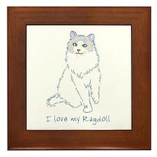 I Love My Ragdoll Framed Tile