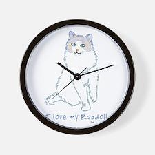 I Love My Ragdoll Wall Clock