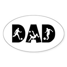 Soccer DAD Oval Decal
