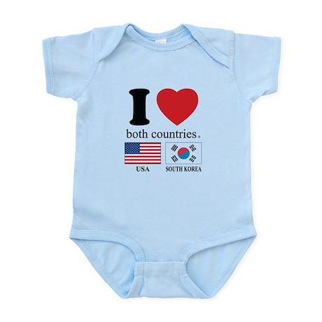 USA-SOUTH KOREA Infant Bodysuit