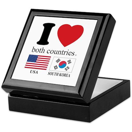 USA-SOUTH KOREA Keepsake Box
