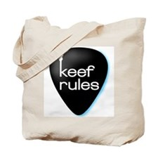 KEEF RULES Exclusive Guitar Pick Design Tote Bag