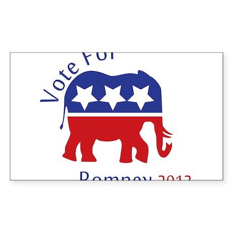 Vote for 2012 Sticker (Rectangle 10 pk)