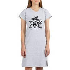 What Happens on the Trail... Women's Nightshirt
