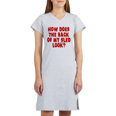 Back of my Sled Women's Nightshirt