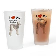Cute Bedlington terrier Drinking Glass