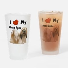 I Love My Lhasa Apso Drinking Glass