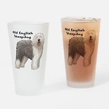 Old English Sheepdog Drinking Glass