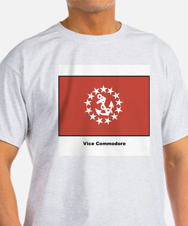 Vice Commodore Flag (Front) Ash Grey T-Shirt