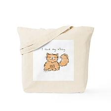 Love My Kitty (orange) Tote Bag