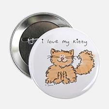 Love My Kitty (orange) Button
