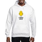 Yorkie Chick Hooded Sweatshirt