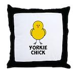 Yorkie Chick Throw Pillow