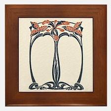 Art Nouveau Design Framed Tile