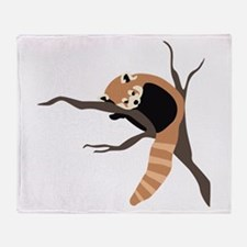 Sleepy Red Panda Throw Blanket