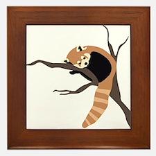 Sleepy Red Panda Framed Tile