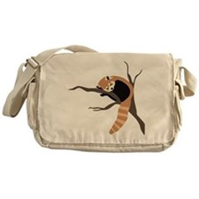 Sleepy Red Panda Messenger Bag