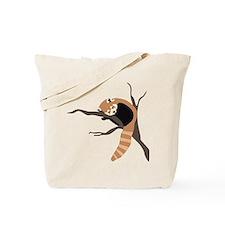 Sleepy Red Panda Tote Bag